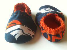 Denver Broncos Cloth Baby Booties by saluna on Etsy, $15.00