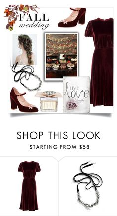 """""""fall wedding"""" by theworldisatourfeet ❤ liked on Polyvore featuring Valentino, Cristabelle and Kate Spade"""
