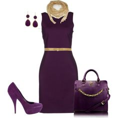 """""""Plum and Gold"""" by penny-martin on Polyvore"""