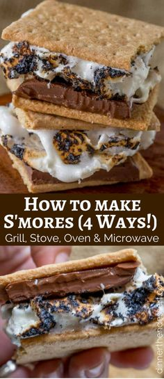 How to make the perfect S'mores that will take you back to your childhood on the stove, in the microwave, in the oven and on the grill.