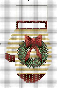 Xmas Cross Stitch, Counted Cross Stitch Patterns, Cross Stitch Charts, Cross Stitch Designs, Cross Stitching, Cross Stitch Embroidery, Christmas Minis, Christmas Cross, Crochet Cross