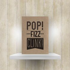 Kerstkaart 'Pop-fizz-clink!'