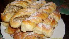 Diós-almás tekert | Nosalty Albanian Recipes, Croatian Recipes, Hungarian Recipes, Russian Recipes, Czech Recipes, Nut Recipes, Sweet Recipes, Cooking Recipes, Challa Bread