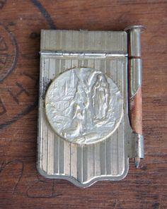 Antique French Lourdes Dance Card or Aide de by LaComtesseDeTalaru