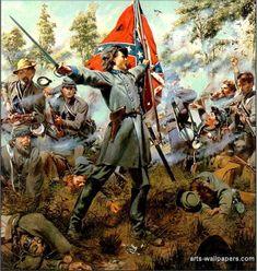 Civil War Historical Painting