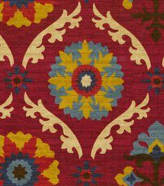 Home Decor Print Fabric-Waverly Mayan Medallion Gem