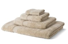 The Bamboo Collection  600GSM Latte 4 Piece Towel Bale