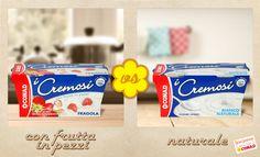 #Yogurt cremoso con #frutta in pezzi, oppure #naturale, magari da personalizzare come vuoi? Vota il tuo preferito!