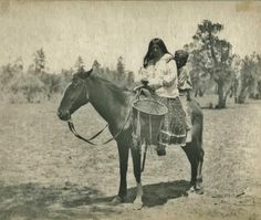 Daughter of Alchise and her son - White Mountain Apache - circa 1910