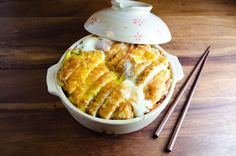 Chicken Katsudon...using pork - one of our favorite Japanese dishes!!  @Shoko Malsom -> I still use our recipe to this day!