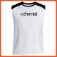 1746291b77 Idakoos - Hashtag Chemist - Occupations - Raglan Sleeveless T-Shirt -  Careers professions shirts (*Partner-Link)