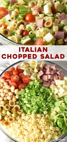 Italian Chopped Salad Recipe – Belly Full This Italian Chopped Salad is a light, yet hearty salad that tastes like your favorite Italian sub sandwich without the bread! Great as a side, for lunch, summer potlucks, or any time of year! Italian Chopped Salad, Chopped Salad Recipes, Pasta Salad Recipes, Italian Sub Salad Recipe, Italian Salad Recipes, Chopped Salads, Easy Healthy Dinners, Healthy Recipes, Easy Dinners
