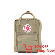 "Fjallraven Kanken Mini Backpack With the Swedish mantra in mind, ""Straight backs are happy backs,"" Fjällräven created the first Kånken in 1978 to spare the backs of school children, as back problems. Small Backpack, Mini Backpack, Kanken Backpack, Kids Backpacks, School Backpacks, Everyday Bag, Abs, Stuff To Buy, Aftershave"