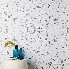 Our Chasing Paper Speckled Marble Wallpaper is a minimal design with just the right amount of detail. This understated pattern can work in the whole room or as an accent wall. Simple to install and easy to remove, these wallpaper panels are ideal … Pink Marble Wallpaper, Mirrored Wallpaper, Tile Wallpaper, Wallpaper Panels, Striped Wallpaper, Peel And Stick Wallpaper, White Kitchen Wallpaper, Kitchen Wallpaper Design, Wallpaper Ideas