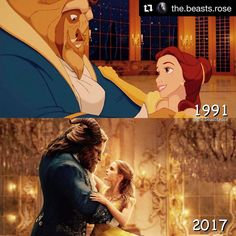Wonderful collage editing thanks to @the.beasts.rose 🌹 #belle #beast #animation #disneyart #beatyandthebeast #beauty #beautyandthebeast2017 🌹🌹 #Repost @the.beasts.rose ・・・ | Beauty and the Beast - Comparisons | • Final comparison edit (only doing a row of 3 for now). • Which do you prefer: 1991 or 2017? I love both❤️✨ • • • #beautyandthebeast #disney #disneyworld #beautyandthebeast2017 #batb #waltdisney #disneybatb #edits #disneyedits #disneybeautyandthebeast #beourguest #emmawatson…