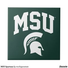 new arrivals 7951f 41d3b MSU Spartans Ceramic Tile   Zazzle.com