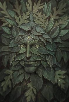 History and lore of the Greenman, including how to bring His magick into your daily life. Carillons Diy, Holly King, Wild Nature, Coven, Fantasy Creatures, Magick, Witchcraft, Trippy, Fantasy Art