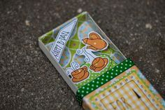 Matchbox greeting (birthday) card for a good friend of us. We both love tea and therefore this theme.