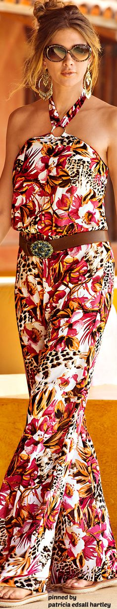 casual style with bold print  love it!  Elegant silk scarves, as well as other…