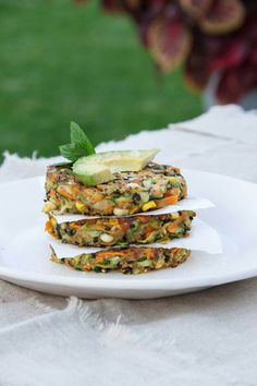 Vegan vegetable fritters using chia seeds as a binder in place of egg. Filled with fresh herbs and spices, these are delicious.