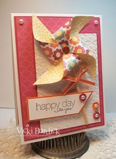 Stampin' Up! Pinwheel It's a Stamp Thing Vicki Burdick
