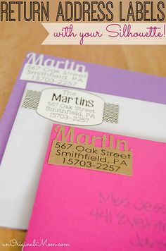DIY Return Address Labels with your Silhouette! These are so cute!