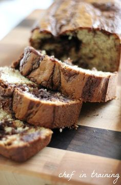 Nutella Banana Bread - I am making this tomorrow morning!!!