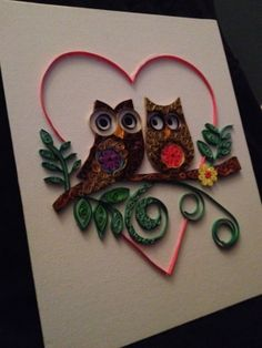 Two quilled owls