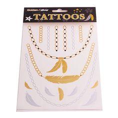 Купить T019 новый 2015 специальный золотой татуировки ювелирные изделия вдохновленный вспышки татуировки водонепроницаемый флэш татуировки перо наклейки блеск тотем др. étatsи другие товары категории Переводные татуировкив магазине Fashion Utopia No.1наAliExpress. ювелирные изделия тайланд и ювелирная магия
