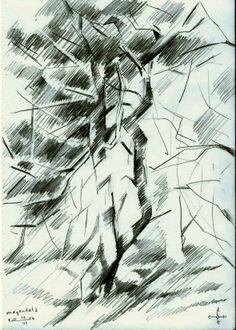 Meyendel 2 - 12-06-14 (2014), graphite on paper (A5)  see more: www.corneakkers.com