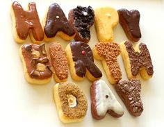 HAPPY BIRTHDAY DOUGHNUTS: What an awesome gift this would be to get on your birthday instead of the typical cake!