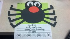 Spiders Unit and Sandwich poem