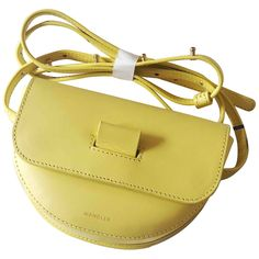 Brand new with tag. Can be wore as a belt bag, cross body bag or clutch. Source by vestiaireco Bags cross body Leather Handbags, Leather Bag, Yellow Leather, Mellow Yellow, Luxury Consignment, Saddle Bags, Crossbody Bag, Brand New, Belt