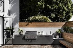 Bell Street House was designed by Techne Architecture + Interior Design. View this architecture archive & more at The Local Project. Terrasse Design, Patio Design, Exterior Design, Garden Design, House Design, Patio Interior, Interior Design Kitchen, Kitchen Designs, Kitchen Ideas