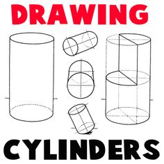 Step drawing cylinders How to Draw Cylinders and Drawing Shaded Cylindrical Objects with Cast Shadows Tutorial 3d Drawing Techniques, Drawing Lessons, Art Lessons, Basic Drawing, Step By Step Drawing, Figure Drawing, Basic Sketching, 3d Drawing Tutorial, Drawing Tutorials