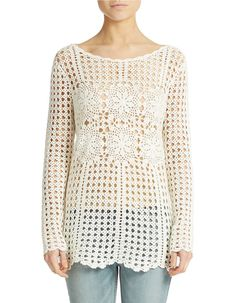 Trendy crochet tunic PATTERN detailed TUTORIAL por CONCEPTcreative