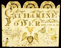 Works on Paper - Fraktur (Birth certificate) - Search the Collection - Winterthur Museum