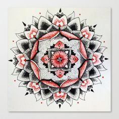 Mandala Stretched Canvas by KMorris - $85.00