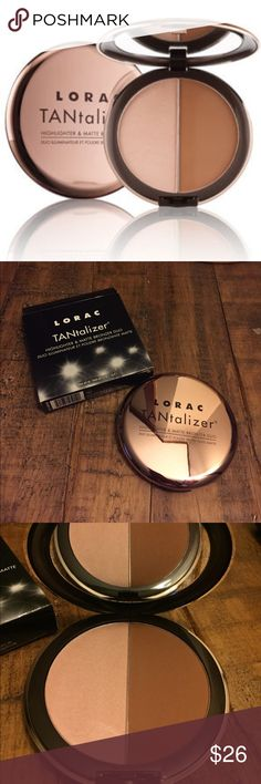 HP 10/16 🎉 New Lorac TANtalizer duo Brand new full size Lorac TANtalizer Highlighter &a Matte Bronzer Duo Sephora Makeup Bronzer