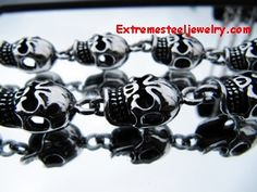Men's 316L Stainless Steel Skulls Chain Necklace
