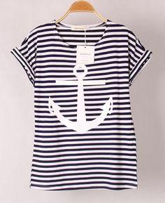 $23.00 | Anchor printed short-sleeved T-shirt GG731BJ