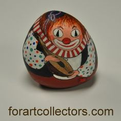Clown with Mandolin Hand Painted Rock Decorative Collectables | eBay