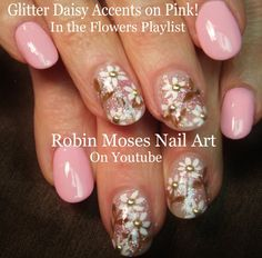 Super cute Daisy Flower Nails UP UP UP for Friday!!!  #daisy #nail #art #prom #trend #2015 #nails #design #tutorial #howto #diy #promnails #pink #white #daisies #flower #flowers