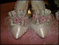 Marie Antoinette Pink Champagne Shoes