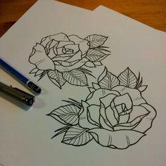 rose tattoo outline
