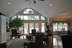Image result for lighting a vaulted ceiling