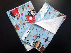 NWOT Handmade Baby Boy Burp Cloths Animal Baby Toys prints Baby Shower Gift