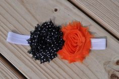 Double Shabby Chic Headband  Halloween by daintydetailsky on Etsy, $8.00