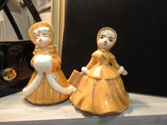 Ceramic Christmas Carolers. From Vendor 528 in booth 100. Priced at $6.00 each.  ~ The Brass Armadillo Antique Mall in Denver, CO ~