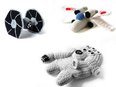 http://www.ravelry.com/patterns/library/patterns-star-wars-ships---3-crochet-pdf-patterns
